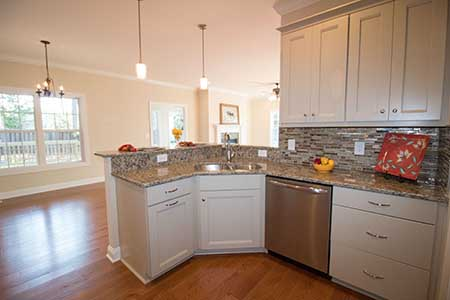 kitchen, placing the most important rooms in your home