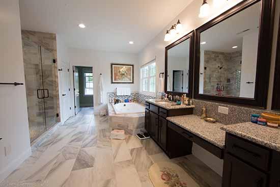 Custom Bathroom, Tile work, Tubs and showers